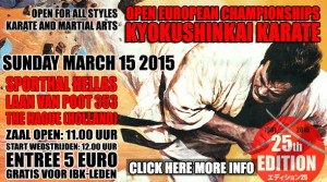 Open European championships kuokushinkai karate @ Sporthal Hellas | The Hague | South Holland | The Netherlands